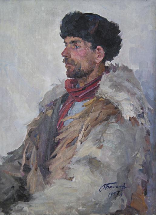 Портрет охотника, Богданов Глеб