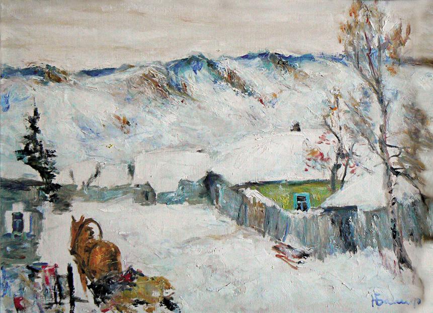 Пейзаж с лошадью, Башарин Николай