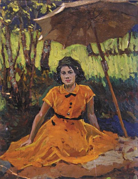 Девушка в желтом, Конев Евтихий