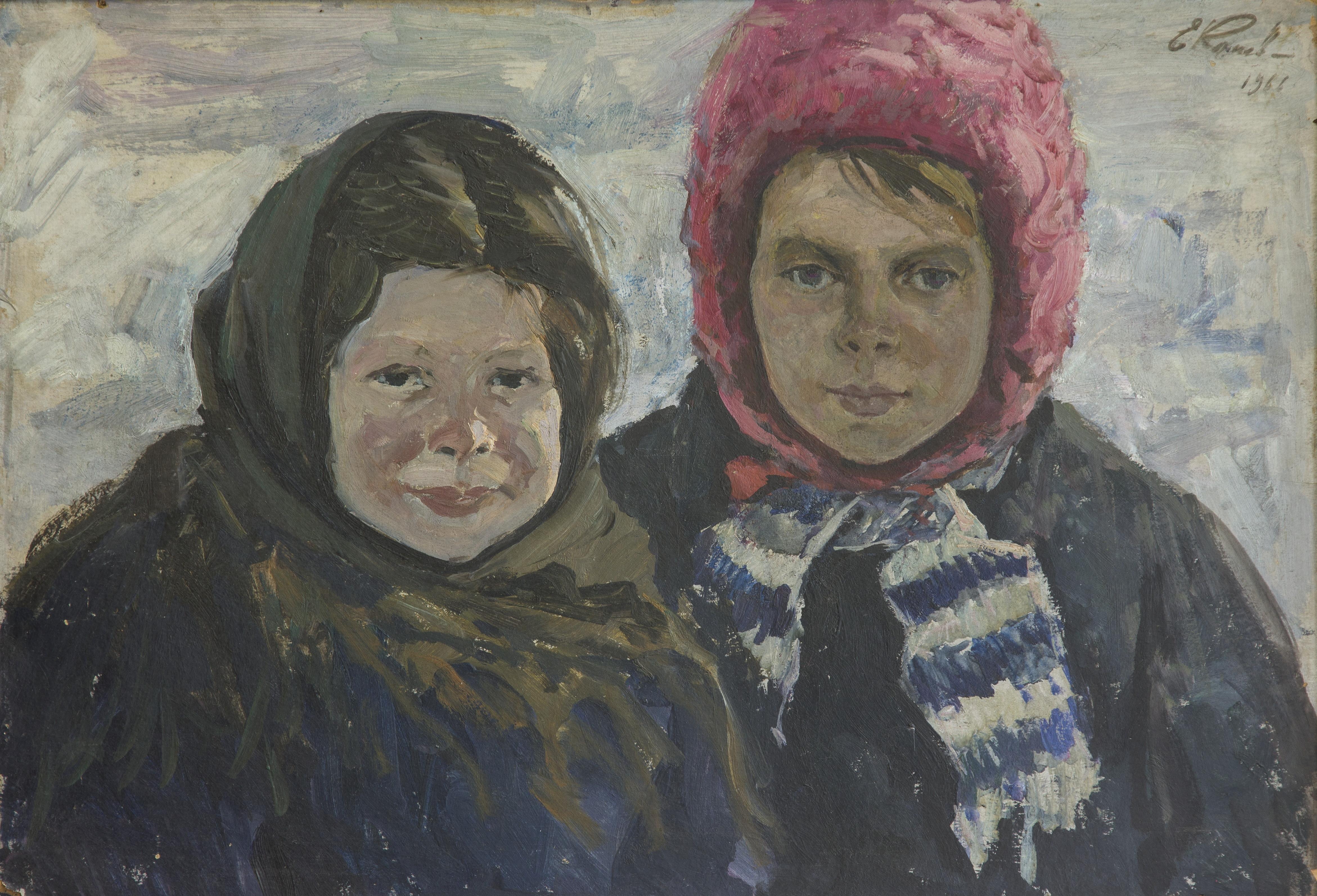 Сельские девочки Таня и Люся, Конев Евтихий