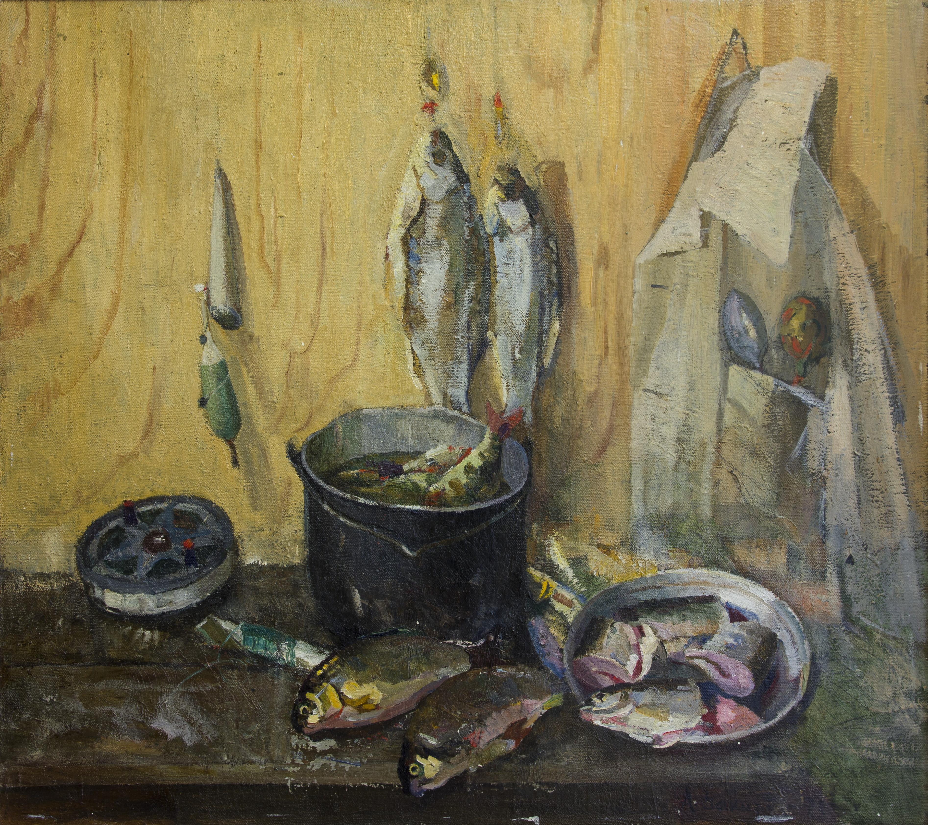 Натюрморт с рыбой, Закиров Анвар