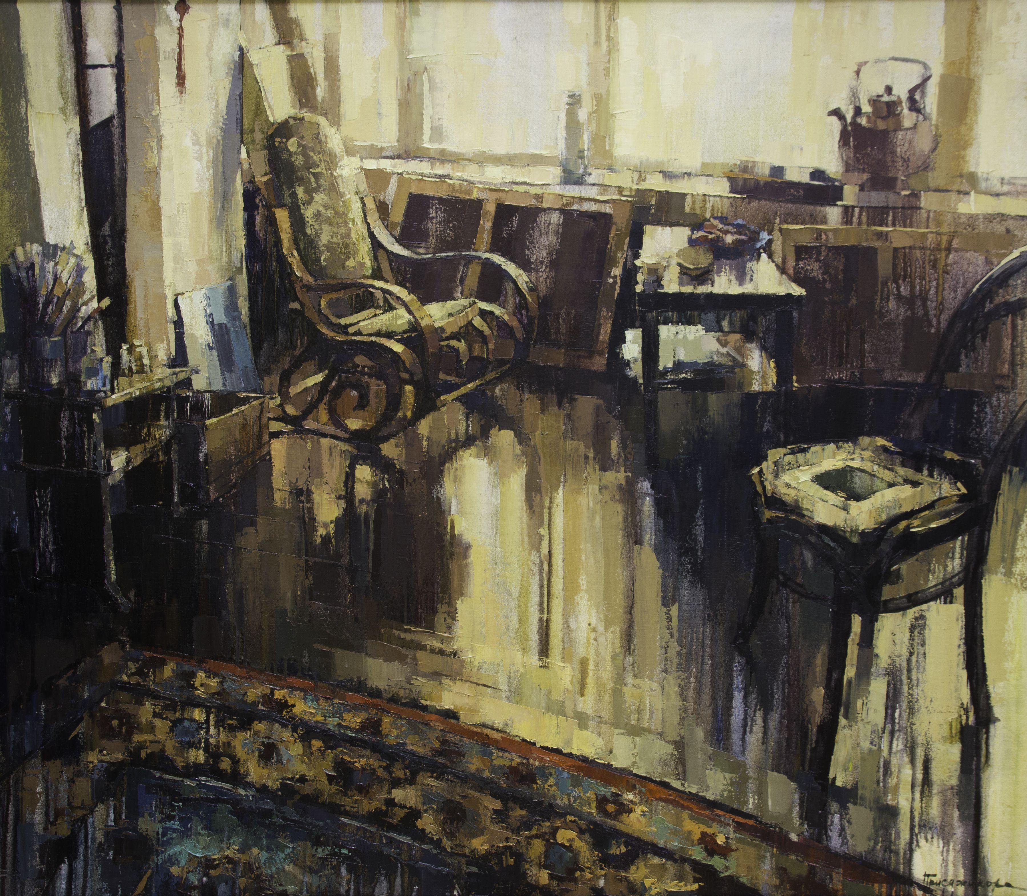В мастерской, Присяжникова Регина
