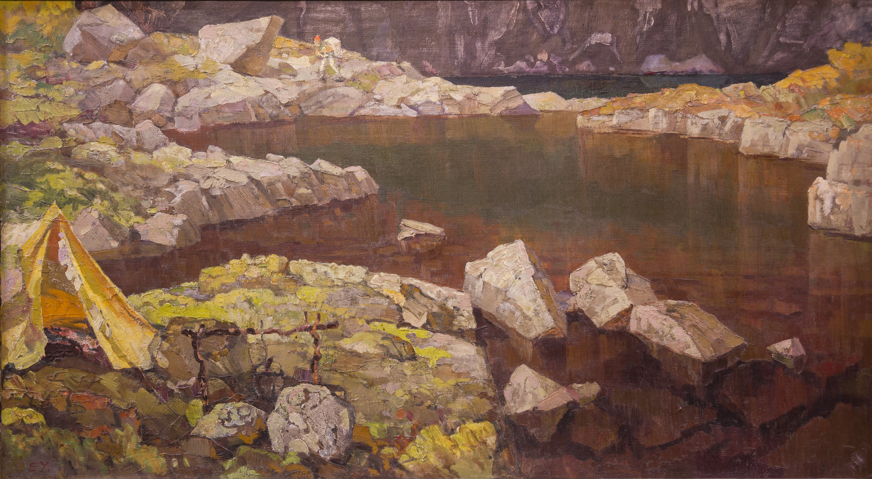 У горного озера, Ушаков Евгений